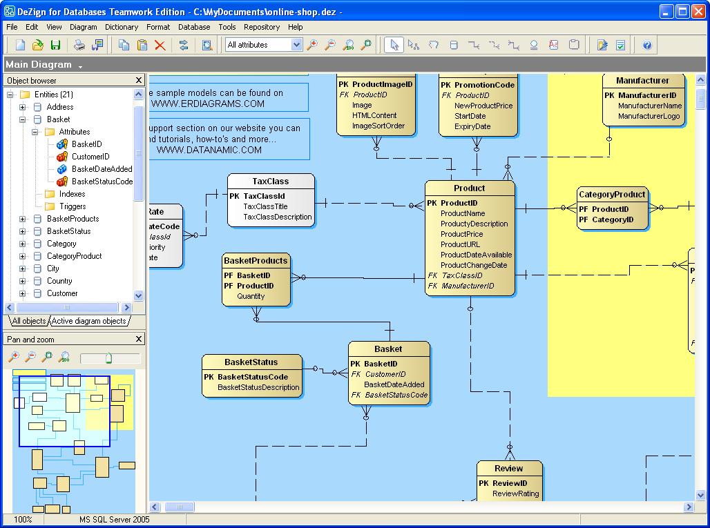 Full DeZign for Databases screenshot