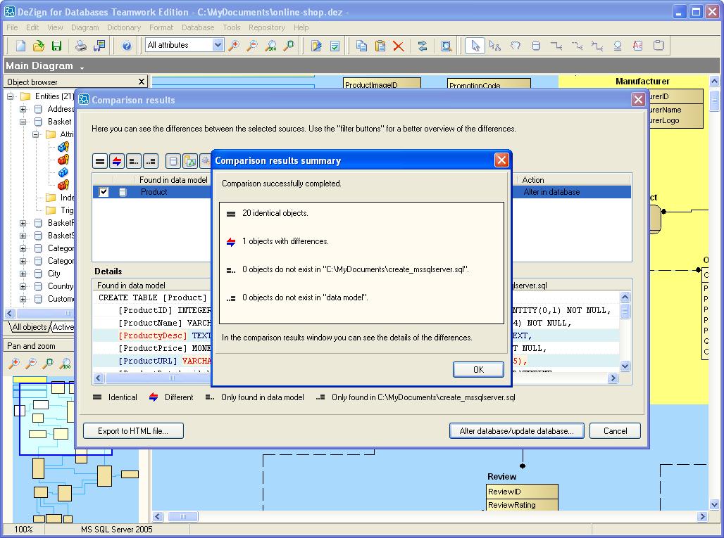 DeZign for Databases screenshot