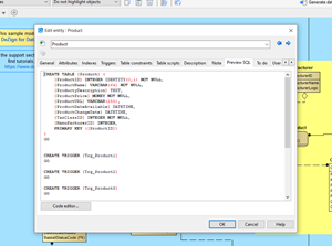 Preview the SQL code that will be generated.