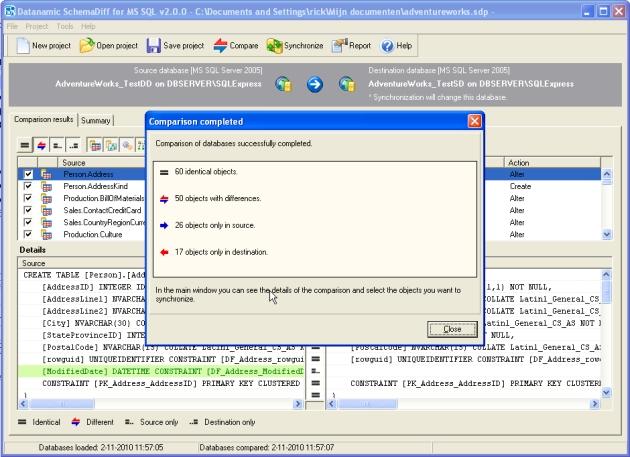 Windows 7 Datanamic SchemaDiff for MS SQL 2011.01 full