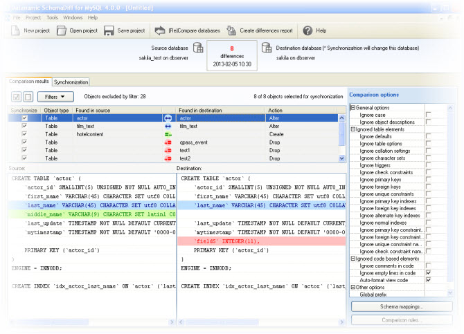 Compare and Synchronize MySQL Server Database Schemas with ...